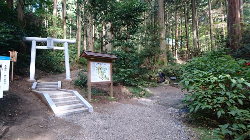 御岩神社参道の分かれ道