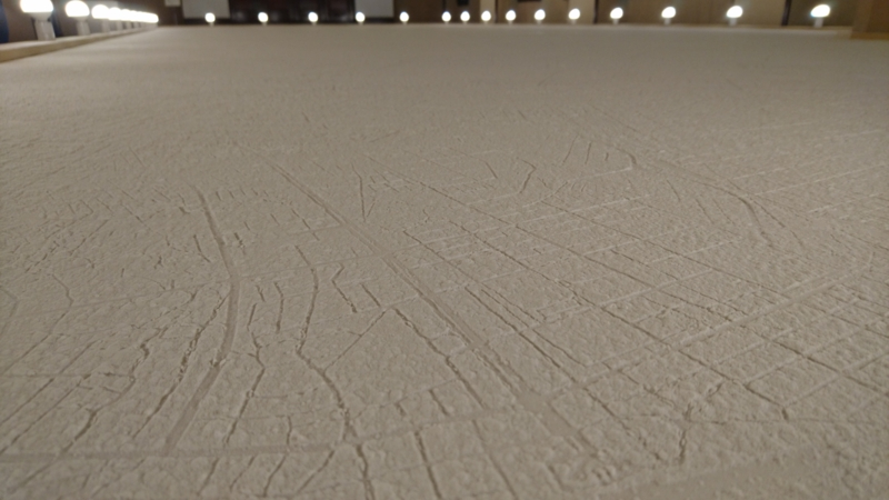 茨城県の市町に雪が降り積もっているよう