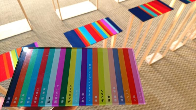 色を行動に変換するためのパネル