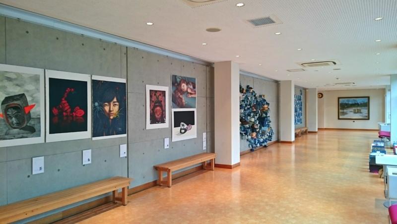 「まいん」での東京芸術藝術大学油画チームの作品