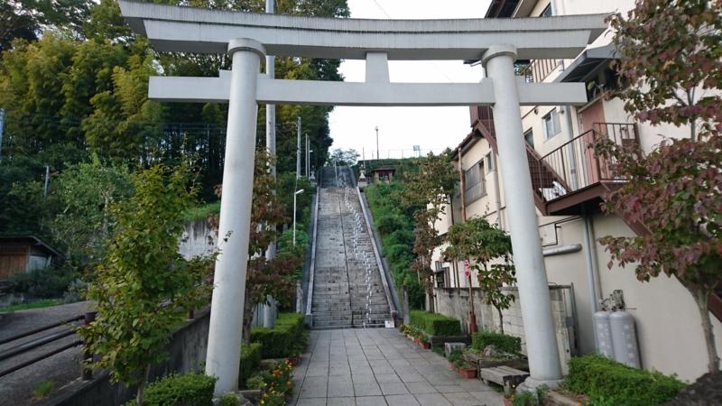 十二所神社の百段階段