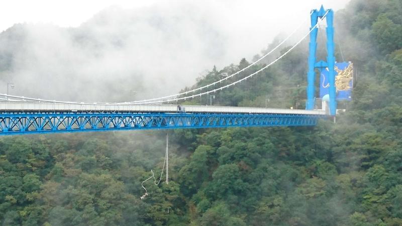竜神大吊橋からのバンジージャンプ