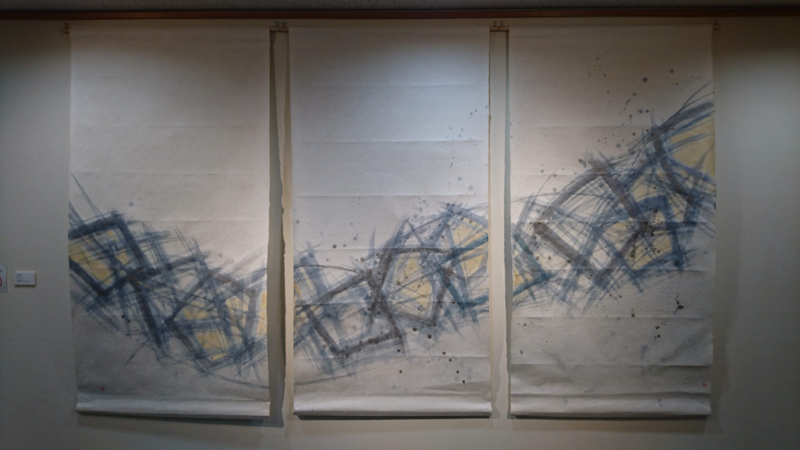 増田さんの作品(屏風)