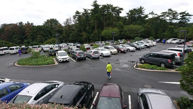 五浦(いづら)美術館の駐車場の画像