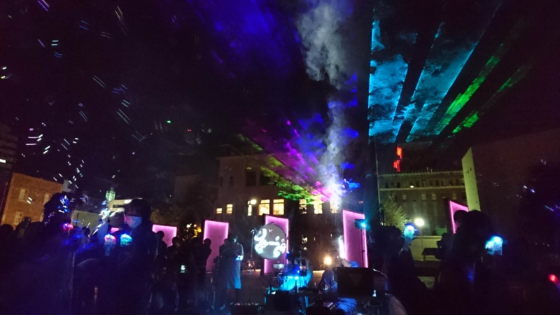 夜のシャボン玉/横浜美術大学NIGHT BUBBLES TEAM