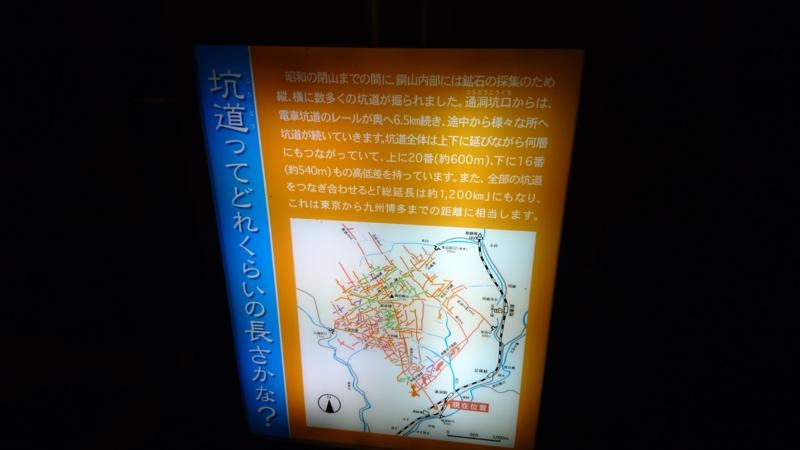 足尾銅山の全長は約1200Km