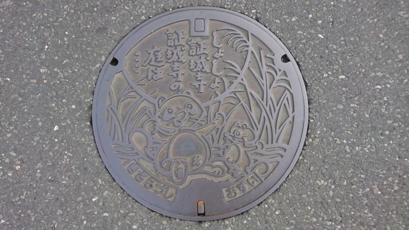 千葉県木更津市のマンホール(証城寺の狸ばやし)