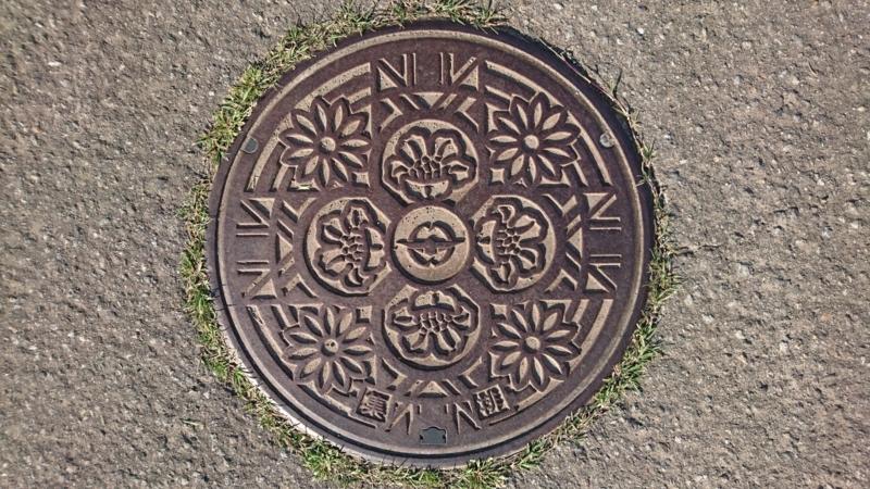 富山県富山市のマンホール(サザンカ、菊)
