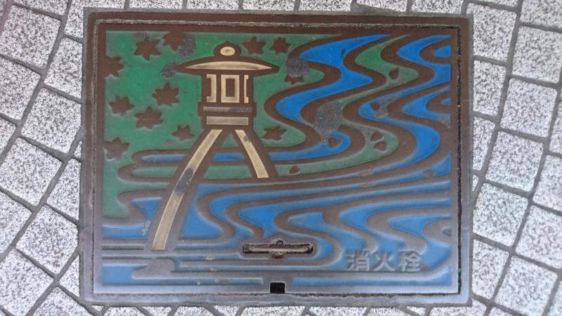 石川県金沢市の消火栓蓋(兼六園ことじ灯籠)