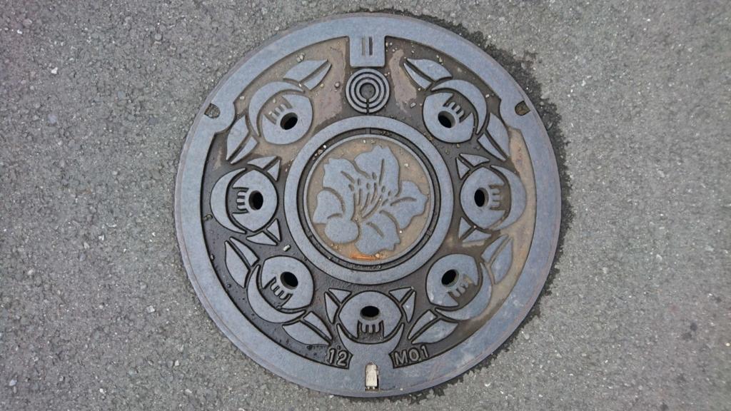 神奈川県川崎市のマンホール(ツツジ、ツバキ)