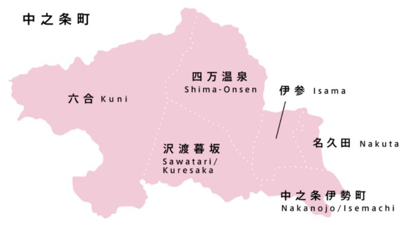 中之条ビエンナーレ2017会場マップ