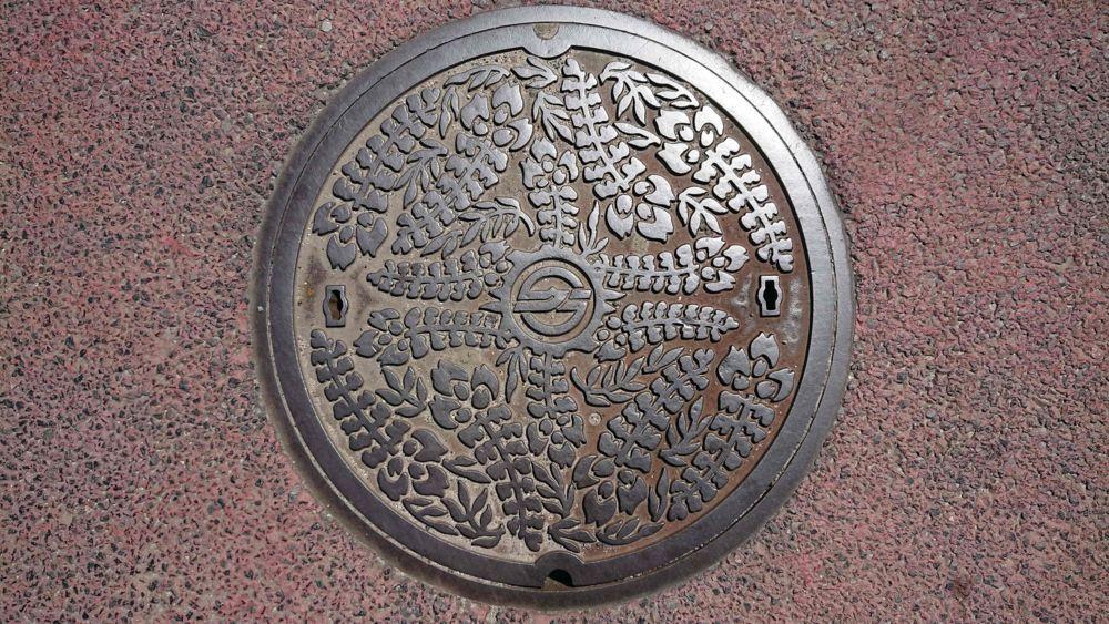 岡山県倉敷市のマンホール(フジ)