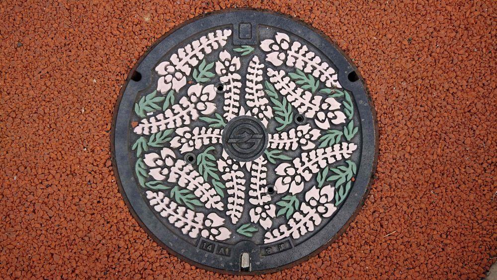 岡山県倉敷市のマンホール(フジ)[カラー]