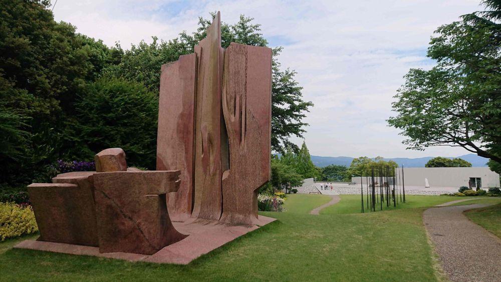 ヴァンジ彫刻庭園美術館の庭園