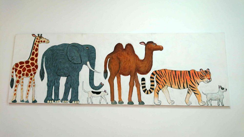 Painting 2008-01(動物大行進)