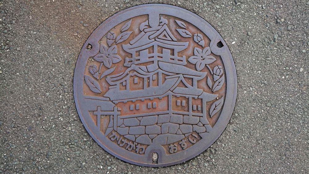 静岡県掛川市のマンホール(掛川城)