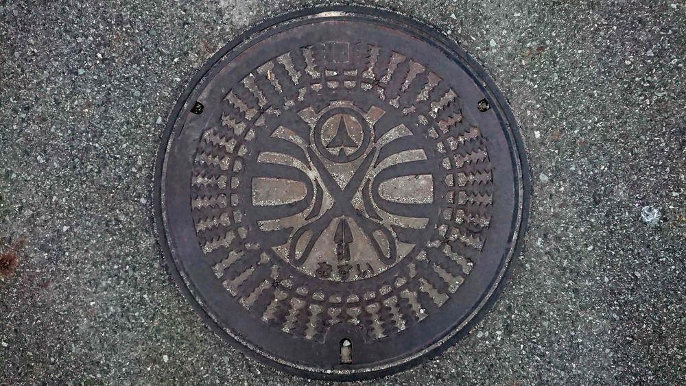兵庫県小野市のマンホール(そろばんの珠、金物)