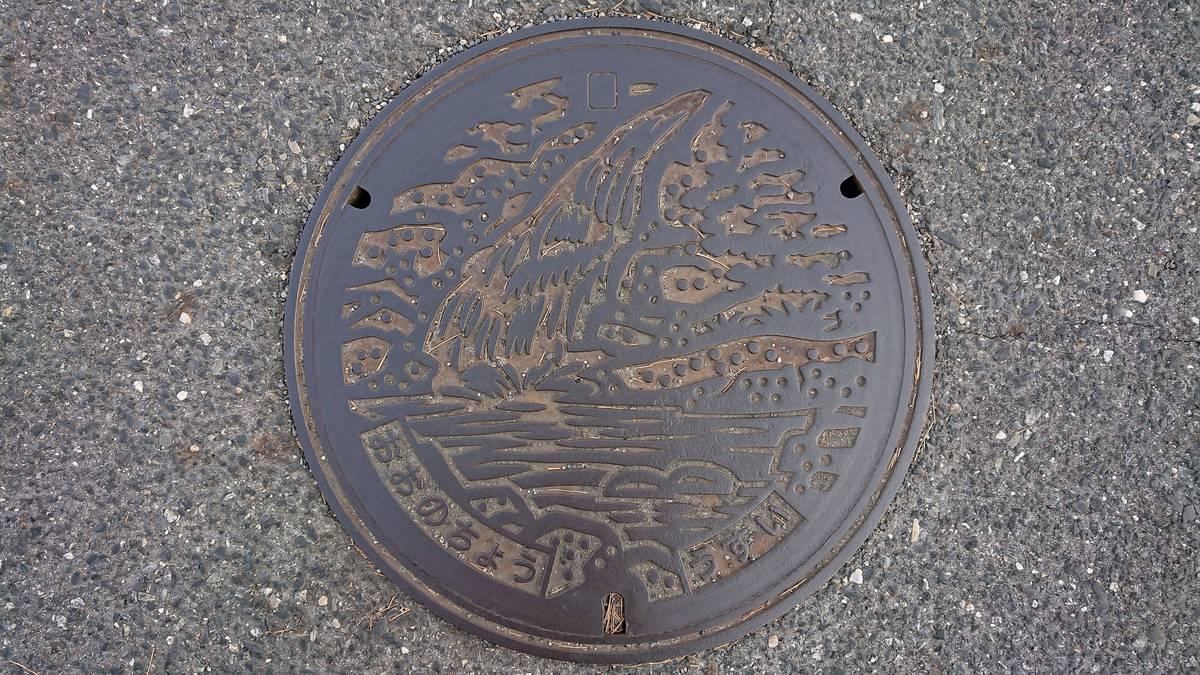 広島県廿日市市のマンホール(旧大野町、妹背の滝)