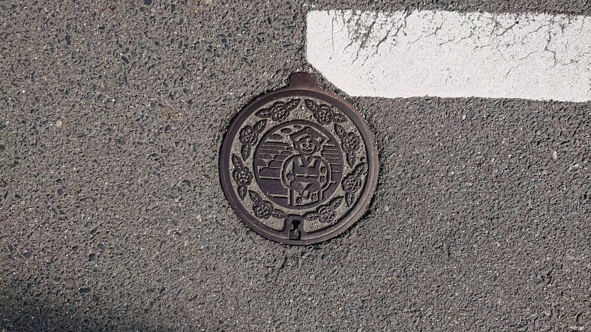 京都府相楽郡和束町のハンドホール(お茶畑、茶娘、お茶の花)
