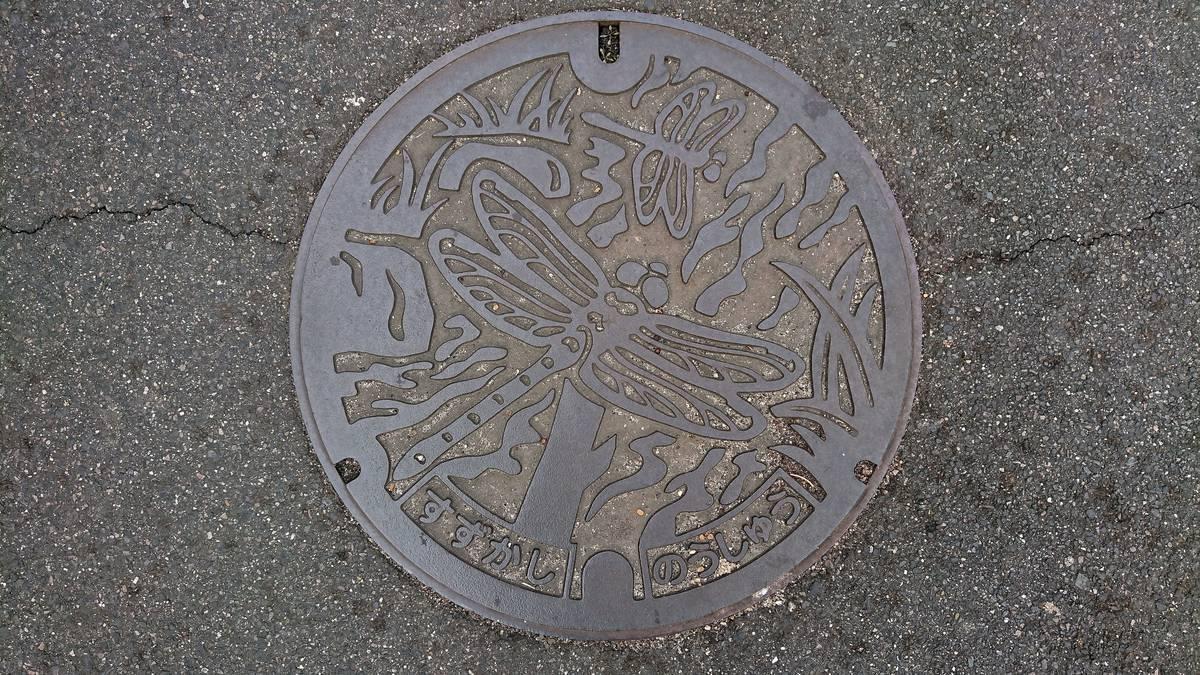 三重県鈴鹿市のマンホール(トンボ)