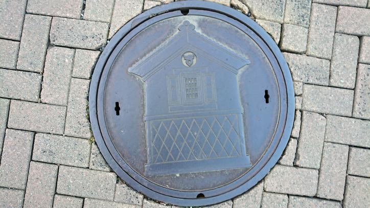 福島県喜多方市のマンホール(旧喜多方市、蔵)