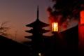 京都新聞写真コンテスト 五重塔と京都の街並み