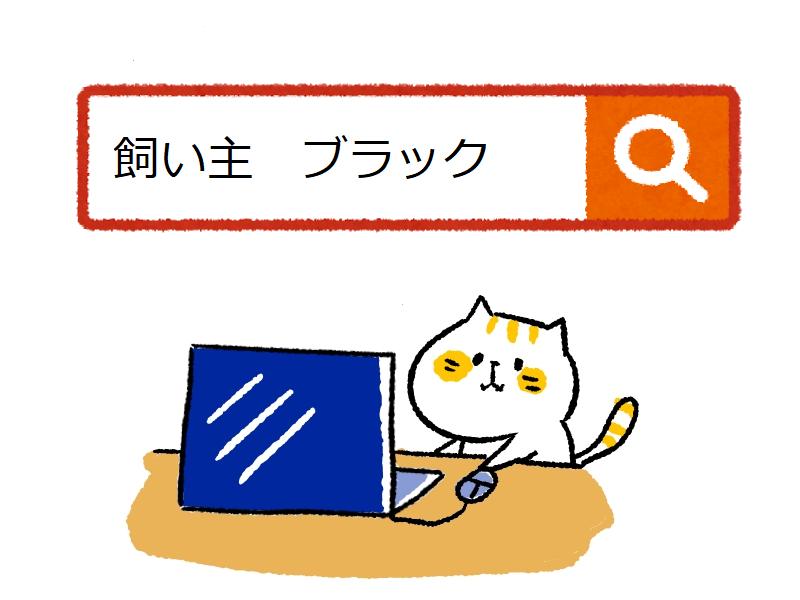 ねこ cat ブラック