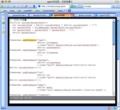gmacsで簡易検索機能の結果該当文字列が選択された様子