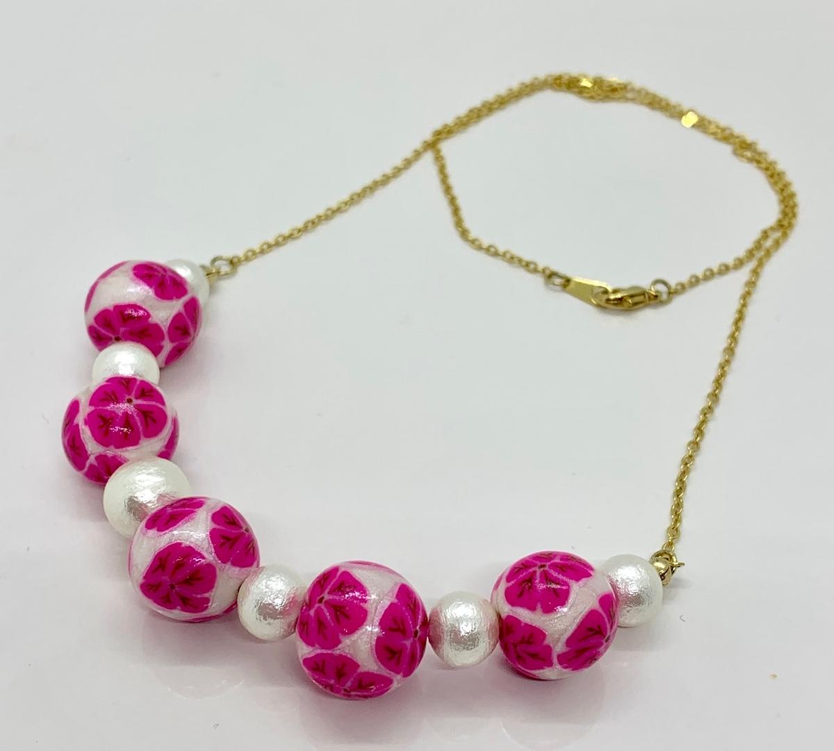 花柄 ネックレス