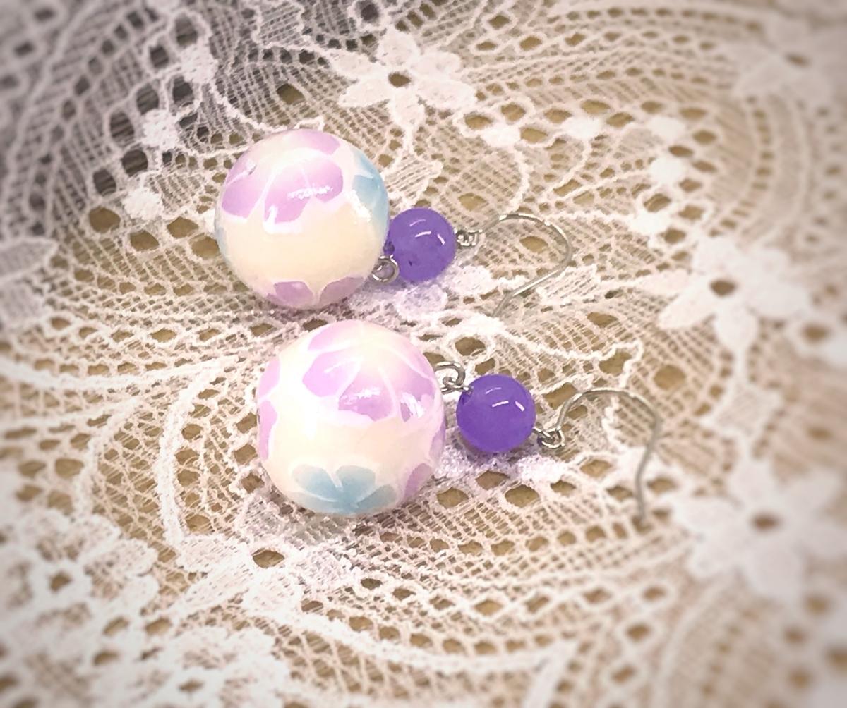 紫玉 ピアス
