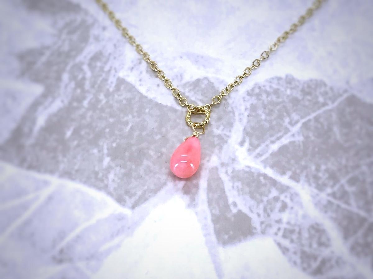 ピンク ネックレス サンゴ
