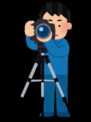 カメラ撮影三脚 いらすとやさんより
