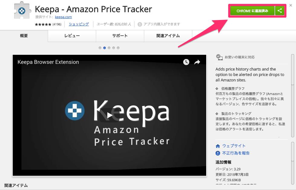 """amazon 価格 変動 変化 推移 確認 Google Chrome 拡張 機能 keepa オススメ"""