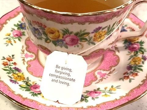 Yogi Tea,  ティーバッグの先端にあるタグに書かれたメッセージ