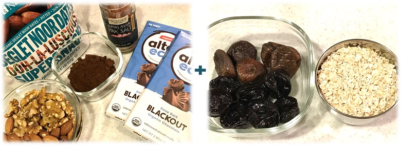 LARABAR チョコレートチップブラウニー 材料