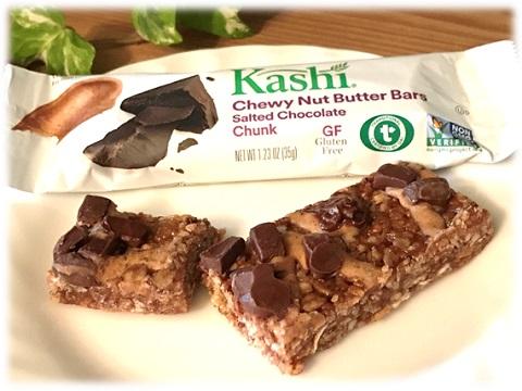Kashi, Salted Chocolate Chunk カットした中身