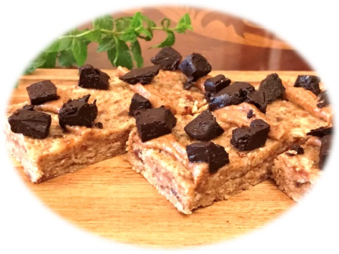 自己流☆Chewy Nut Butter Bars・Salted Chocolate Chunk