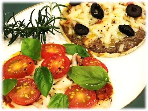 低カロリー コーンシンでつくるミニピザ