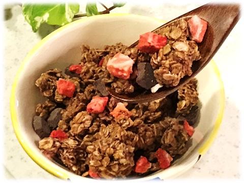 LOVE CRUNCH ♡ Dark Chocolate & Red Berries 中身