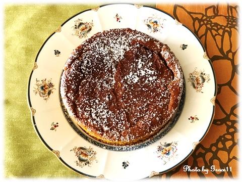 グルテンフリーパンプキンケーキ 上から見た画像