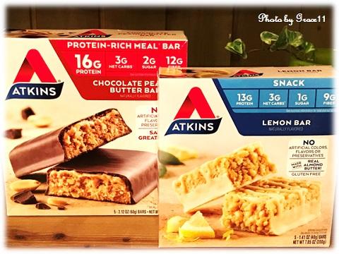 Atkins Nutritional Bars ★ アトキンス栄養バー・レモンバー&チョコレートピーナッツバター
