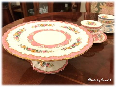 Crown Staffordshire☆アンティーク陶器