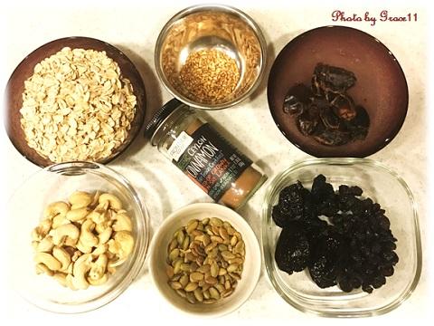 カシューナッツとクランベリーのブリスボール材料