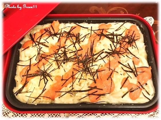 ホットプレートでつくるトッポギの明太もちチーズグラタン