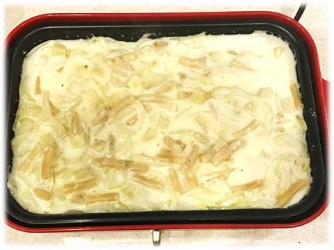 レシピ☆ブイヨンとマカロニを加えて4分煮る