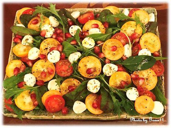 完熟金柑とザクロ完熟の美肌サラダ