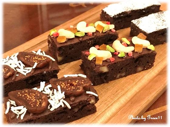 濃厚ダブルチョコレートのナッツブラウニー