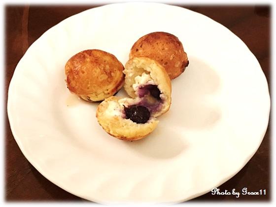 グルテンフリー☆ブルーベリー&クリームチーズのデザートたこ焼き
