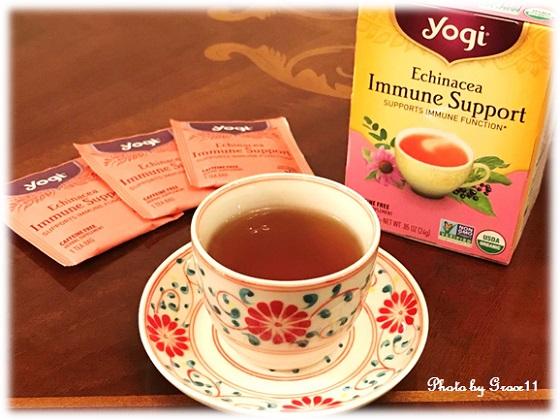 Yogi Tea エキナセア免疫サポート・カフェインフリー