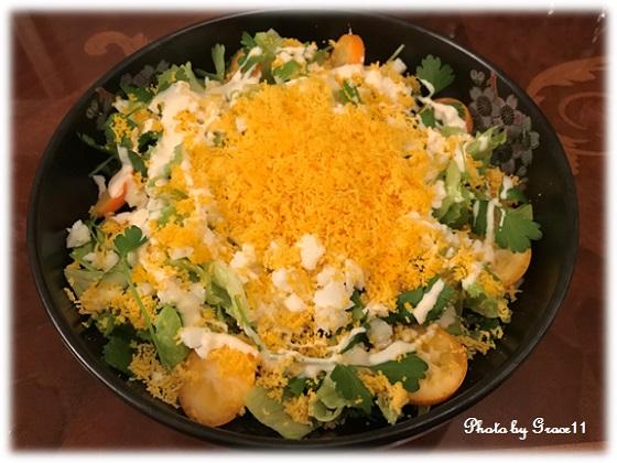 春野菜のミモザサラダ ヨーグルトドレッシング
